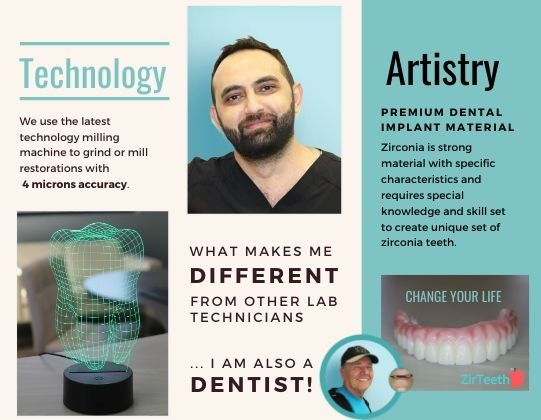 ZirTeeth® Dental Implant Lab- Top- Notch Technician